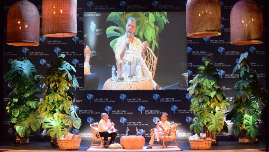 Hay Festival Conversación Juan Manuel Santos SURA